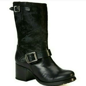 NWT FRYE Vera Calf Hair Leather Boot